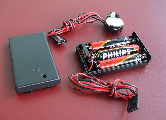 DIY external CMOS batteries: 3 x AAA Alkaline batteries and CR2032 lithium battery