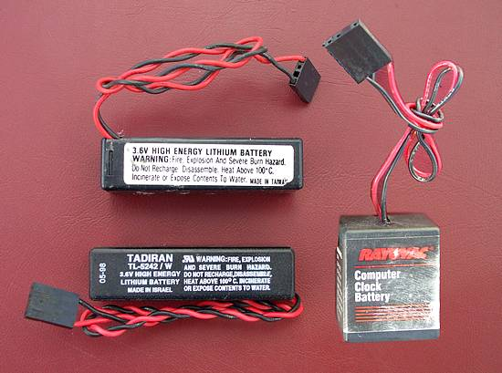 Types of external CMOS batteries used in PC's
