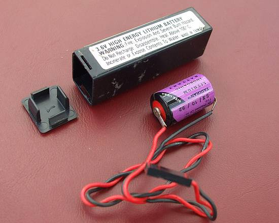 Inside an external CMOS battery. Tadiran 3.6v lithium battery.