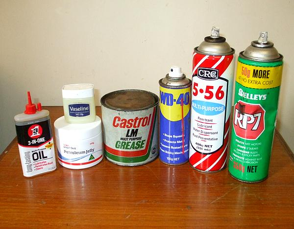 A selection of oil and grease for floppy drive