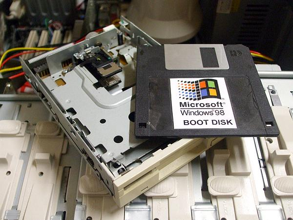 Floppy drive reading for testing